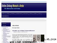Informationen zur Webseite mensch-und-krebs.de