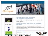 Informationen zur Webseite messepost.de