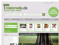 Ranking Webseite mietmeile.de