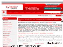 Ranking Webseite milestone-ag.de