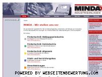 Ranking Webseite minda.de