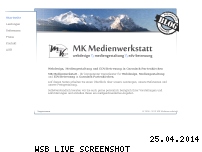 Ranking Webseite mk-medienwerkstatt.com