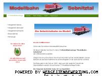 Ranking Webseite modellbahn-sebnitztal.de