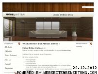 Ranking Webseite moebel-bitter.de