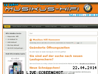 Ranking Webseite musikus-hannover.de