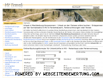 Informationen zur Webseite mv-travel.de