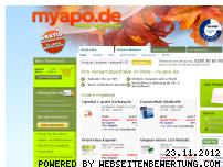 Ranking Webseite myapo.de
