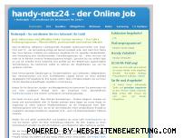 Ranking Webseite nebenjob.handy-netz24.de