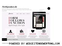 Ranking Webseite netspeaker.de