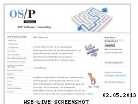 Informationen zur Webseite osp-solution.de