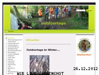 Ranking Webseite outdoortage.de