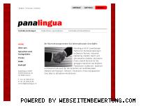 Ranking Webseite panalingua.ch