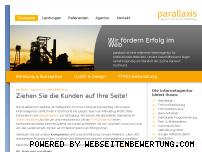 Ranking Webseite parallaxis.de