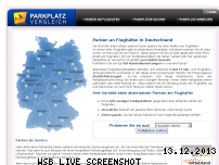 Ranking Webseite parkplatzvergleich.de