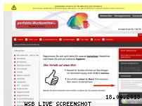 Ranking Webseite perfekte-werbemittel.de