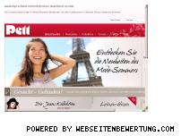 Ranking Webseite pett-mode.de
