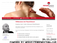 Informationen zur Webseite physiosimon.de