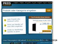 Ranking Webseite preissuchmaschine.de