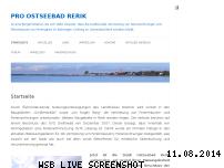 Ranking Webseite pro-ostseebad-rerik.com