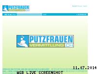 Ranking Webseite putzfrauenvermittlung.ch