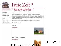 Ranking Webseite rauberschloss.de