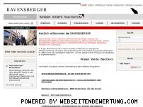 Ranking Webseite ravensberger.biz