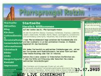 Ranking Webseite retzin.pfarrsprengel-hohenselchow.de