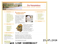 Ranking Webseite rezeptebox.de