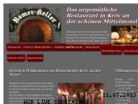 Informationen zur Webseite roemerkeller-kroev.de