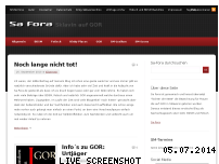 Informationen zur Webseite sa-fora.de