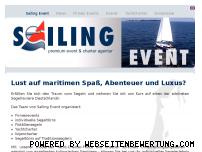Informationen zur Webseite sailingevent.de
