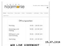 Ranking Webseite salon-haarmonie.com