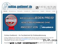 Ranking Webseite schlaugedaemmt.de