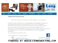 Ranking Webseite schuhelang.de