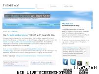Informationen zur Webseite schuldnerberatung-themis.de