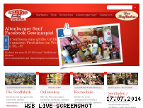 Ranking Webseite senf.de