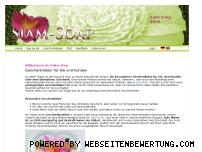 Ranking Webseite siamsoap.de