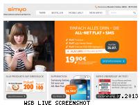 Ranking Webseite simyo.de