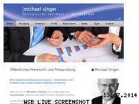 Informationen zur Webseite singer-preispruefung.de