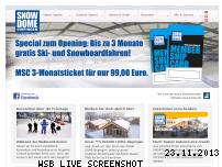 Ranking Webseite snow-dome.de