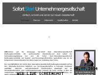 Informationen zur Webseite sofort-start-unternehmergesellschaft.de