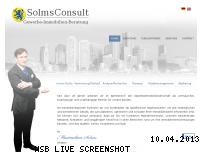 Informationen zur Webseite solmsconsult.de