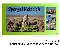 Ranking Webseite spargel-heinrich.de