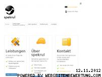 Ranking Webseite spekrul.de