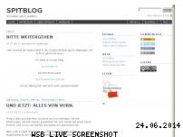 Ranking Webseite spitblog.de