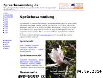 Informationen zur Webseite spruechesammlung.de