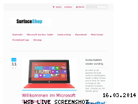 Ranking Webseite surfaceshop.de