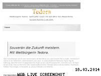 Ranking Webseite tedora.ch