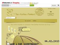 Ranking Webseite tee-kaffee-feinkost.de