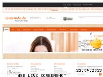 Ranking Webseite teemando.de
